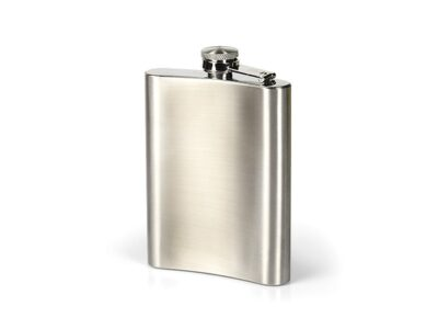 STAINLESS STEEL FLASK IN A GIFT BOX, 230 ml